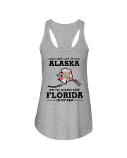 LIVE IN ALASKA BUT I'LL HAVE FLORIDA IN MY DNA Ladies Flowy Tank thumbnail