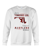 JUST A TENNESSEE GIRL IN A MARYLAND WORLD Crewneck Sweatshirt thumbnail