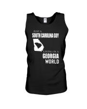 JUST A SOUTH CAROLINA GUY IN A GEORGIA WORLD Unisex Tank thumbnail