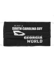JUST A SOUTH CAROLINA GUY IN A GEORGIA WORLD Cloth face mask thumbnail