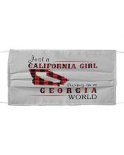 JUST A CALIFORNIA GIRL IN A GEORGIA WORLD Cloth face mask thumbnail