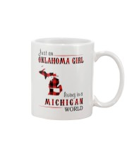 JUST AN OKLAHOMA GIRL IN A MICHIGAN WORLD Mug thumbnail