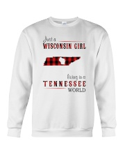 JUST A WISCONSIN GIRL IN A TENNESSEE WORLD Crewneck Sweatshirt thumbnail
