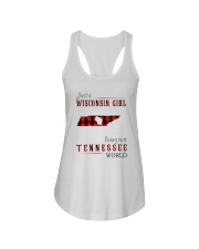 JUST A WISCONSIN GIRL IN A TENNESSEE WORLD Ladies Flowy Tank thumbnail