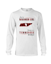 JUST A WISCONSIN GIRL IN A TENNESSEE WORLD Long Sleeve Tee thumbnail