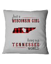 JUST A WISCONSIN GIRL IN A TENNESSEE WORLD Square Pillowcase thumbnail