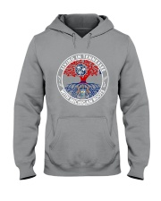 LIVING IN TENNESSEE WITH MICHIGAN ROOTS Hooded Sweatshirt front