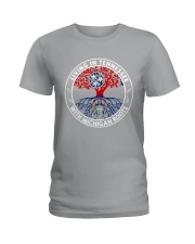 LIVING IN TENNESSEE WITH MICHIGAN ROOTS Ladies T-Shirt thumbnail