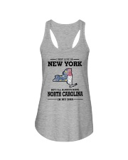 LIVE IN NEW YORK BUT NORTH CAROLINA IN MY DNA Ladies Flowy Tank thumbnail