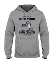 LIVE IN NEW YORK BUT NORTH CAROLINA IN MY DNA Hooded Sweatshirt thumbnail
