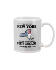 LIVE IN NEW YORK BUT NORTH CAROLINA IN MY DNA Mug thumbnail