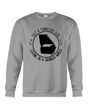 TENNESSEE GIRL LIVING IN GEORGIA WORLD Crewneck Sweatshirt thumbnail