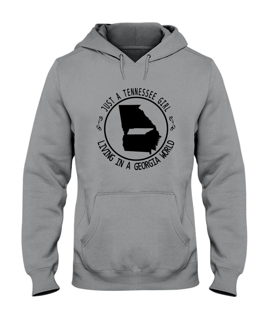 TENNESSEE GIRL LIVING IN GEORGIA WORLD Hooded Sweatshirt