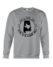 TEXAS GIRL LIVING IN ALABAMA WORLD Crewneck Sweatshirt thumbnail