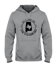 TEXAS GIRL LIVING IN ALABAMA WORLD Hooded Sweatshirt front