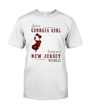 JUST A GEORGIA GIRL IN A NEW JERSEY WORLD Classic T-Shirt thumbnail