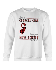 JUST A GEORGIA GIRL IN A NEW JERSEY WORLD Crewneck Sweatshirt thumbnail
