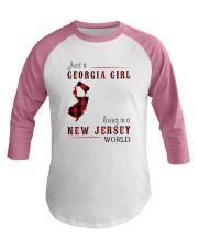 JUST A GEORGIA GIRL IN A NEW JERSEY WORLD Baseball Tee thumbnail