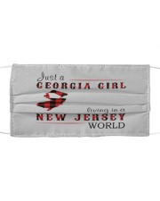 JUST A GEORGIA GIRL IN A NEW JERSEY WORLD Cloth face mask thumbnail