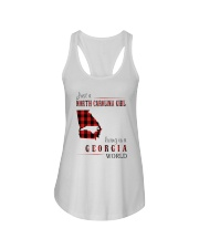 JUST A NORTH CAROLINA GIRL IN A GEORGIA WORLD Ladies Flowy Tank thumbnail