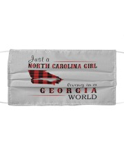 JUST A NORTH CAROLINA GIRL IN A GEORGIA WORLD Cloth face mask thumbnail
