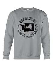 NEW YORK GIRL LIVING IN WASHINGTON WORLD Crewneck Sweatshirt thumbnail