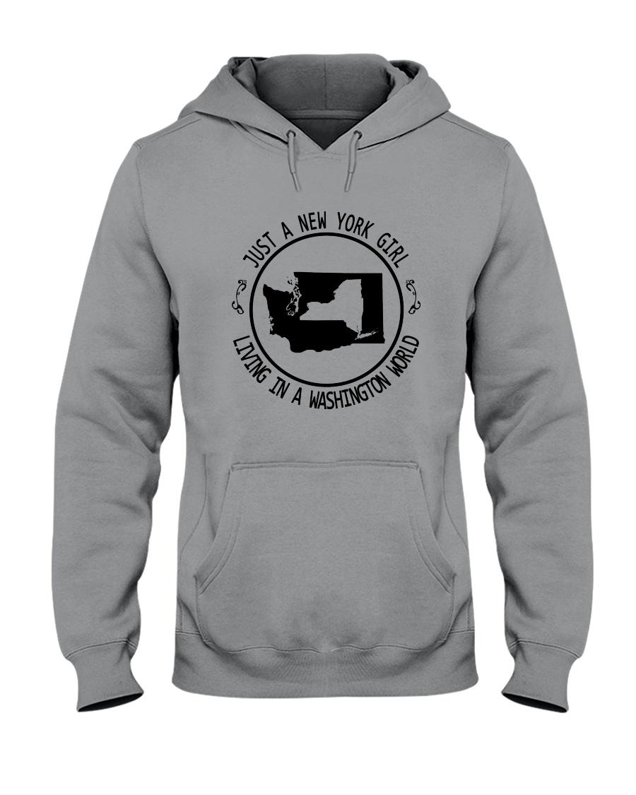NEW YORK GIRL LIVING IN WASHINGTON WORLD Hooded Sweatshirt