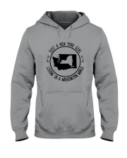 NEW YORK GIRL LIVING IN WASHINGTON WORLD Hooded Sweatshirt front