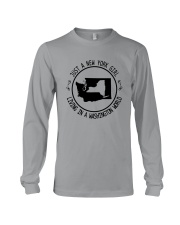 NEW YORK GIRL LIVING IN WASHINGTON WORLD Long Sleeve Tee thumbnail