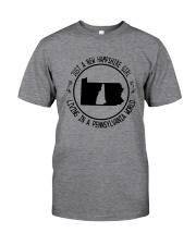 NEW HAMPSHIRE GIRL LIVING IN PENNSYLVANIA WORLD Classic T-Shirt thumbnail