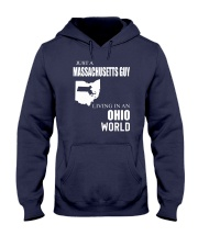 JUST A MASSACHUSETTS GUY IN AN OHIO WORLD Hooded Sweatshirt front