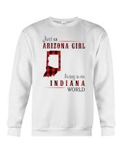 JUST AN ARIZONA GIRL IN AN INDIANA WORLD Crewneck Sweatshirt thumbnail