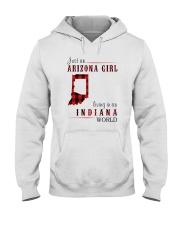 JUST AN ARIZONA GIRL IN AN INDIANA WORLD Hooded Sweatshirt front