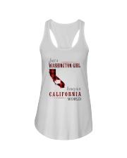 JUST A WASHINGTON GIRL IN A CALIFORNIA WORLD Ladies Flowy Tank thumbnail