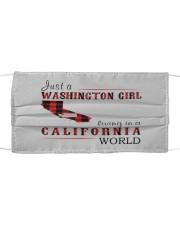 JUST A WASHINGTON GIRL IN A CALIFORNIA WORLD Cloth face mask thumbnail