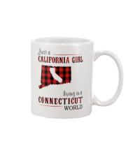 JUST A CALIFORNIA GIRL IN A CONNECTICUT WORLD Mug thumbnail