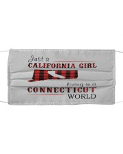 JUST A CALIFORNIA GIRL IN A CONNECTICUT WORLD Cloth face mask thumbnail