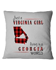 JUST A VIRGINIA GIRL IN A GEORGIA WORLD Square Pillowcase tile