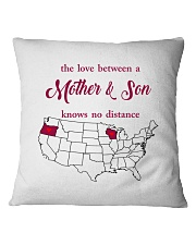 WISCONSIN OREGON THE LOVE MOTHER AND SON Square Pillowcase thumbnail