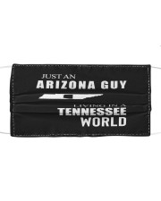 JUST AN ARIZONA GUY IN A TENNESSEE WORLD Cloth face mask thumbnail