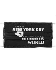 JUST A NEW YORK GUY IN AN ILLINOIS WORLD Cloth face mask thumbnail