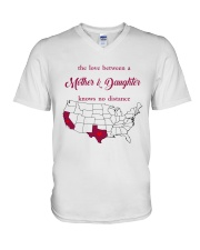 TEXAS CALIFORNIA THE LOVE MOTHER AND DAUGHTER V-Neck T-Shirt thumbnail