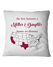 TEXAS CALIFORNIA THE LOVE MOTHER AND DAUGHTER Square Pillowcase thumbnail