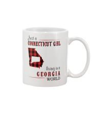 JUST A CONNECTICUT GIRL IN A GEORGIA WORLD Mug thumbnail
