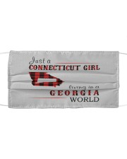 JUST A CONNECTICUT GIRL IN A GEORGIA WORLD Cloth face mask thumbnail
