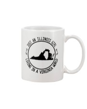 ILLINOIS GIRL LIVING IN VIRGINIA WORLD Mug thumbnail