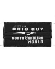 JUST AN OHIO GUY IN A NORTH CAROLINA WORLD Cloth face mask thumbnail