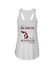 JUST A NEW JERSEY GIRL IN A MICHIGAN WORLD Ladies Flowy Tank thumbnail
