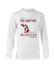 JUST A NEW JERSEY GIRL IN A MICHIGAN WORLD Long Sleeve Tee thumbnail