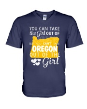 YOU CAN'T TAKE OREGON OUT OF THE GIRL V-Neck T-Shirt thumbnail